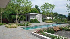 Gartengestaltung_Rosen_Gräser_Platane_Pool