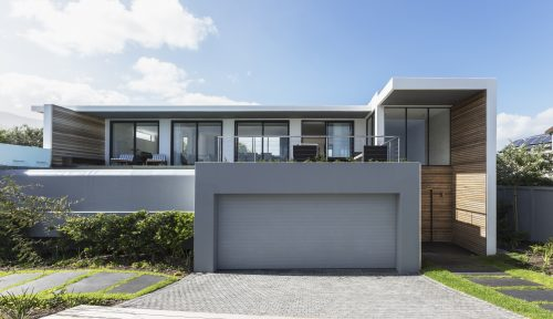 Modern home showcase exterior house with garage