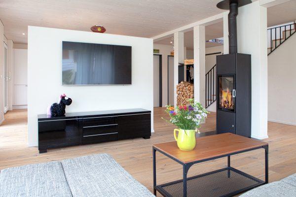 Wohnzimmer mit Cheminee