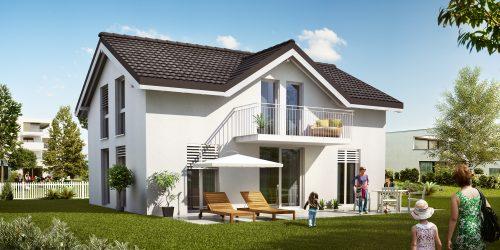 Schlüsselfertiges Einfamilienhaus