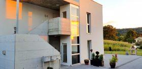 Aussenlift bei Neubau Mehrfamilienhaus