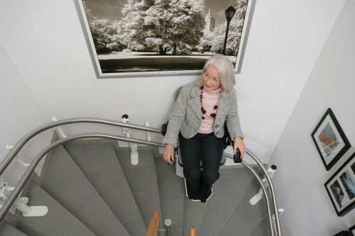 Sitzlift-Treppenlift-Aussenlaeufer