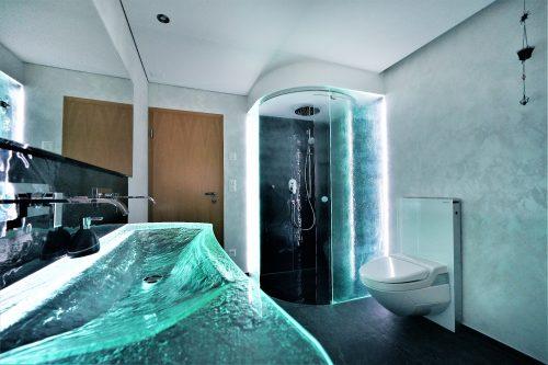 dusche anthrazit mit lavabo