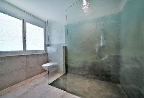 dusche schmelzglas komplett