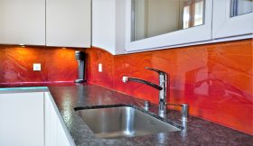 küchenrückwand schmelzglas