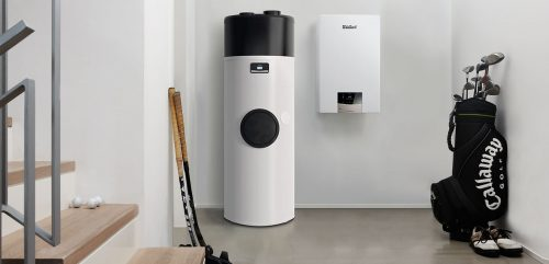 Wärmepumpenboiler aroSTOR + Gaswandheizung